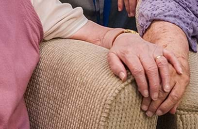 People Old Women Hold Hands